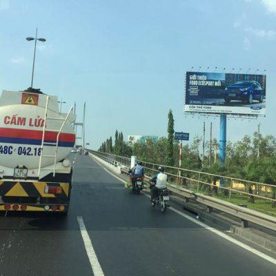 Billboard quảng cáo hành lang cầu Mỹ Thuận, Vĩnh Long