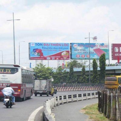 3 Billboard cột trụ quảng cáo tại khu vực Cầu Mỹ Thuận, Vĩnh Long
