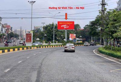 Billboard quảng cáo ngã ba Dốc Láp, Vĩnh Yên, Vĩnh Phúc